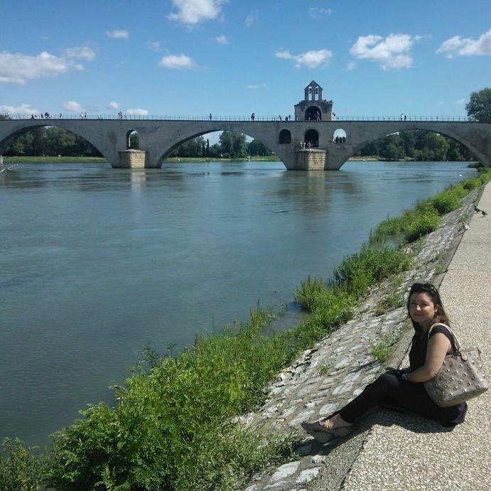 Montse en Aviñón (Francia)