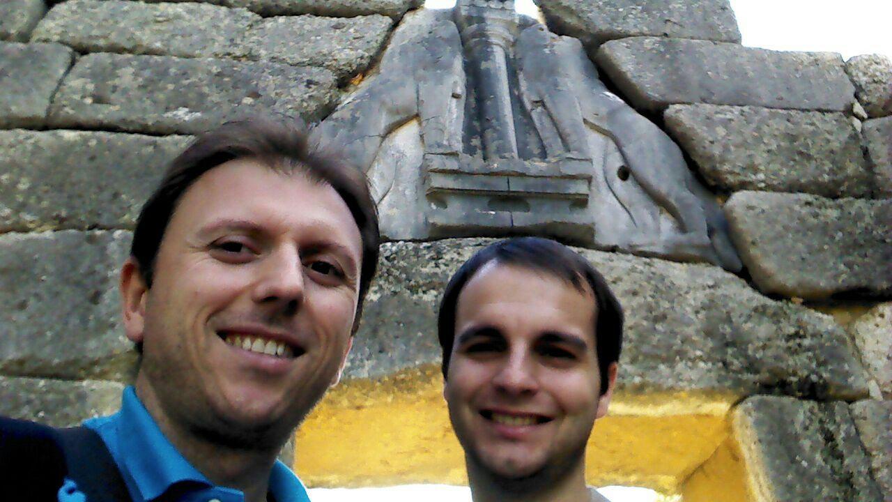 Manolo y Carlos en Micenas (Grecia)