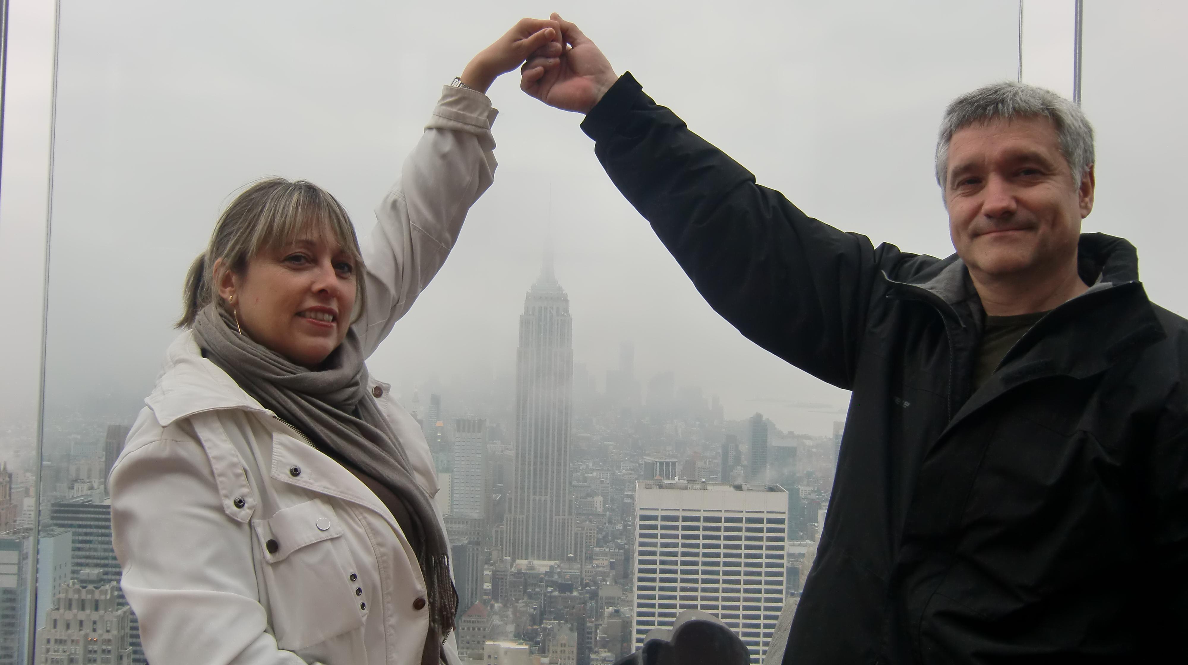 Carol y Emili disfrutando en Nueva York