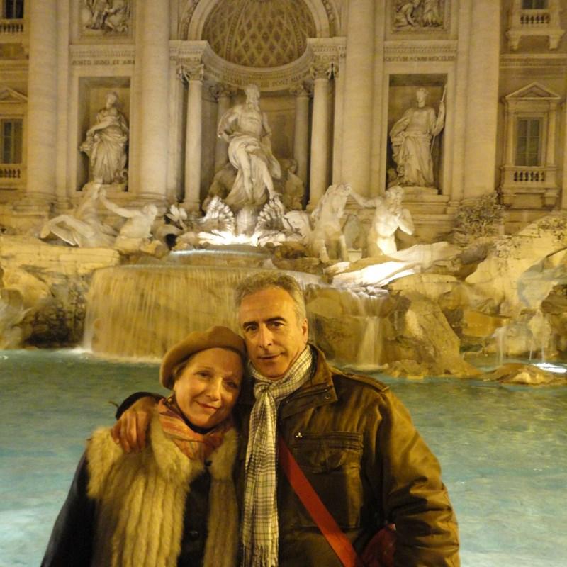 Mari y Antonio en Roma