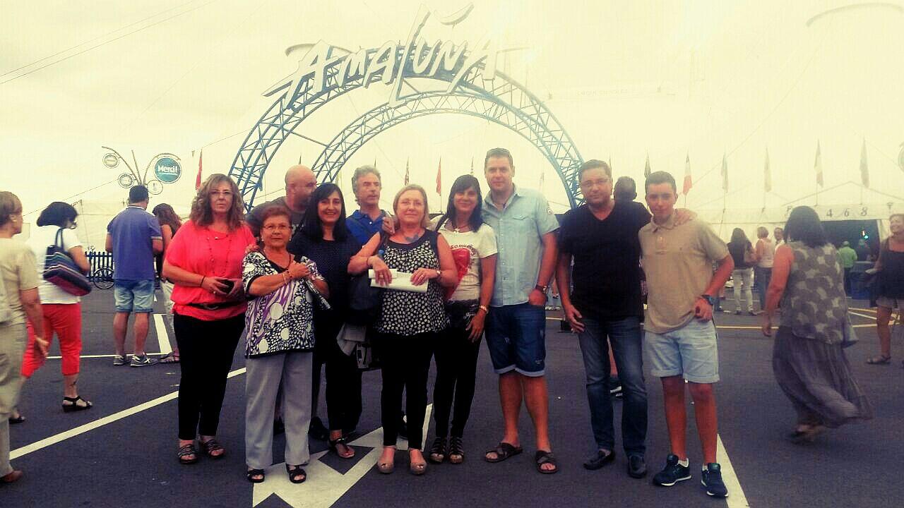 Familia Riao en el Amaluna de Cirque du Soleil en Salou.