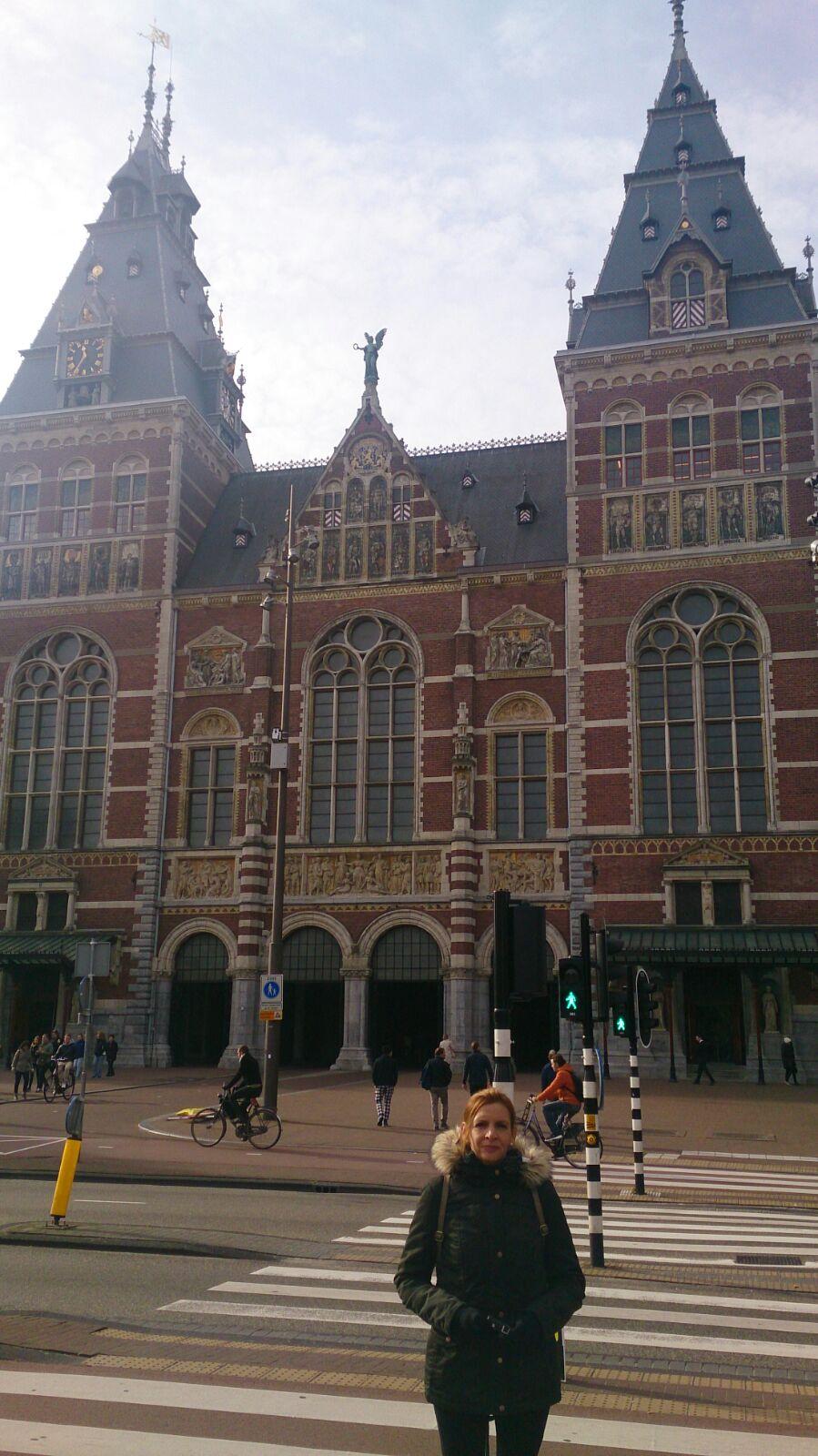 Gloria con el Rijksmuseum