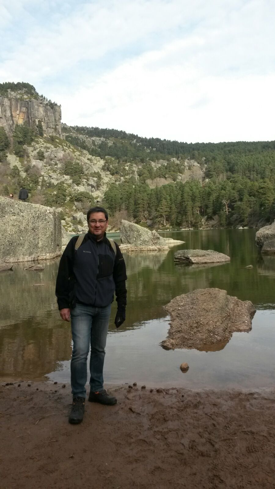 Alfonso junto a la Laguna Negra de Urbión de Soria