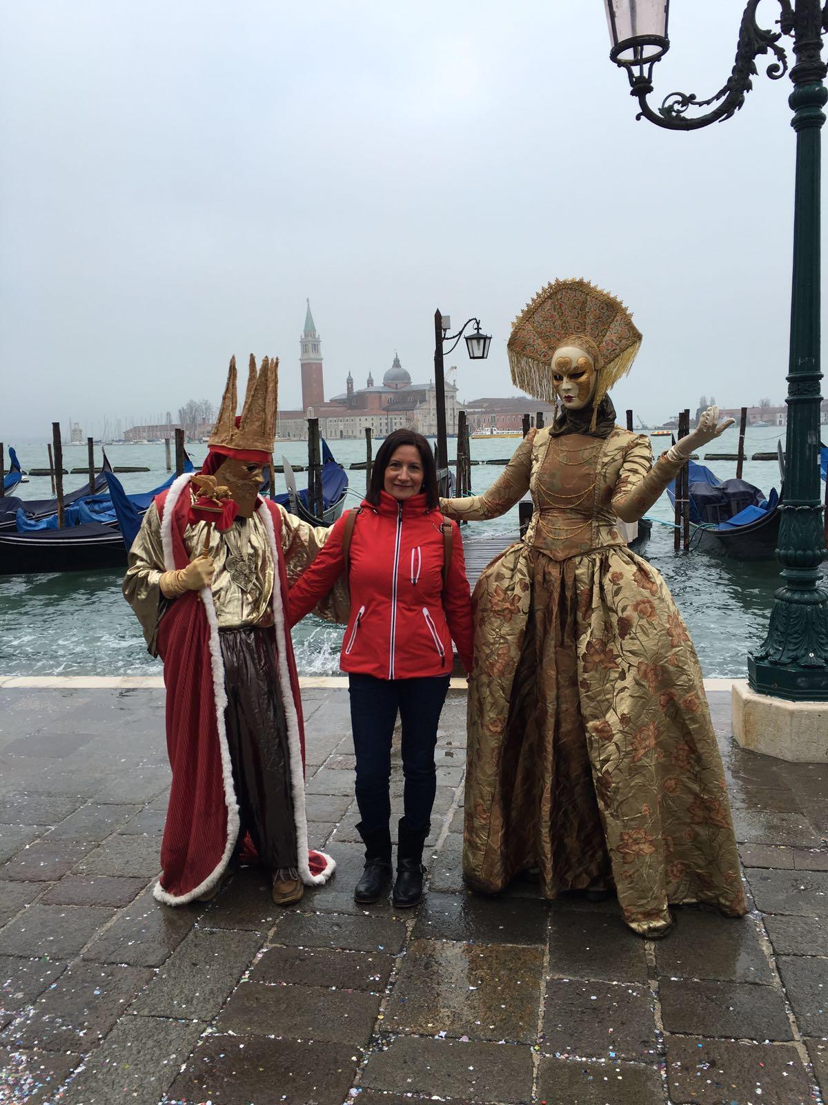 Tina en los Carnavales de Venecia