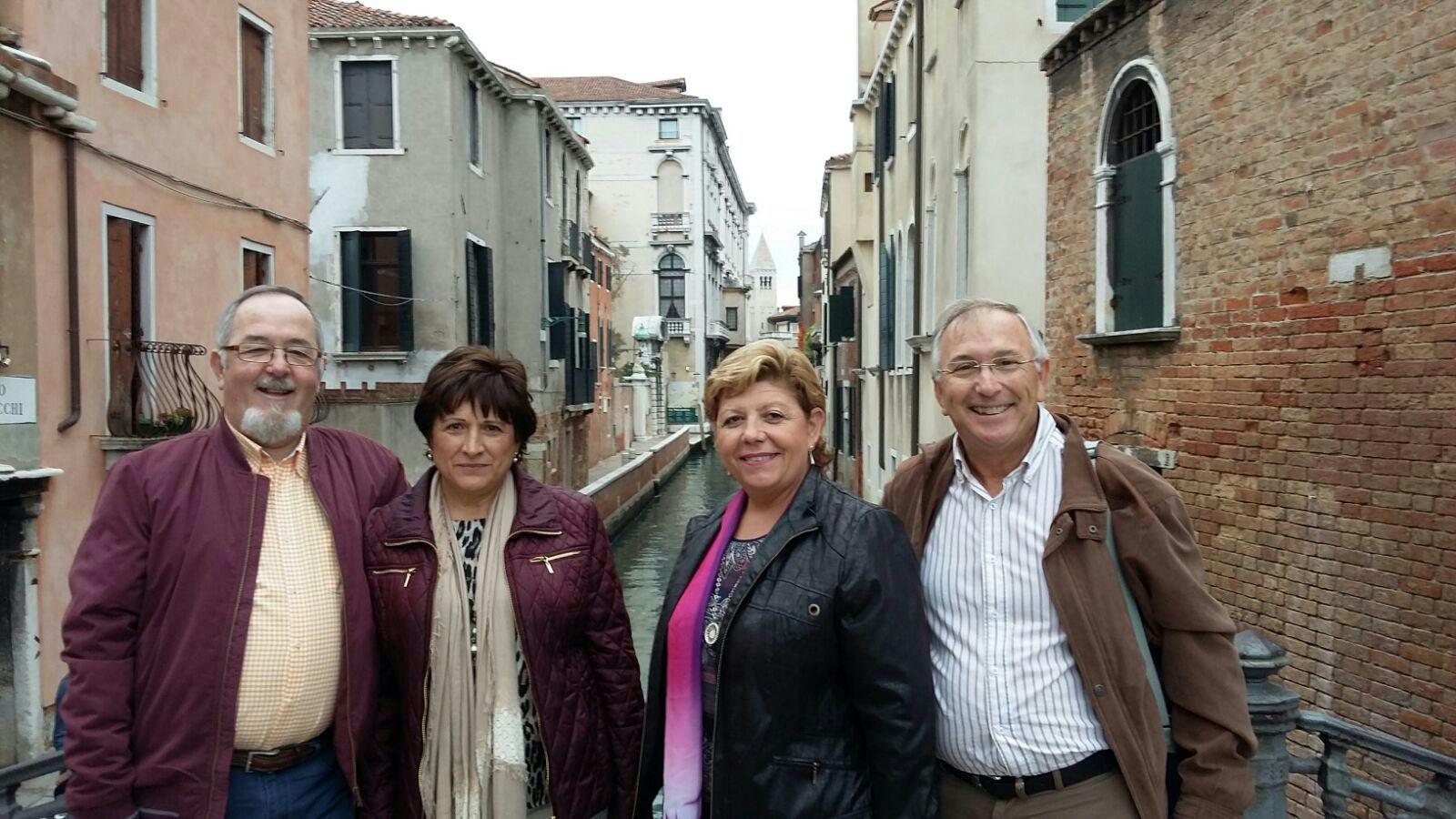 Alejandro, Mari, Miguel y Paqui por Venecia.