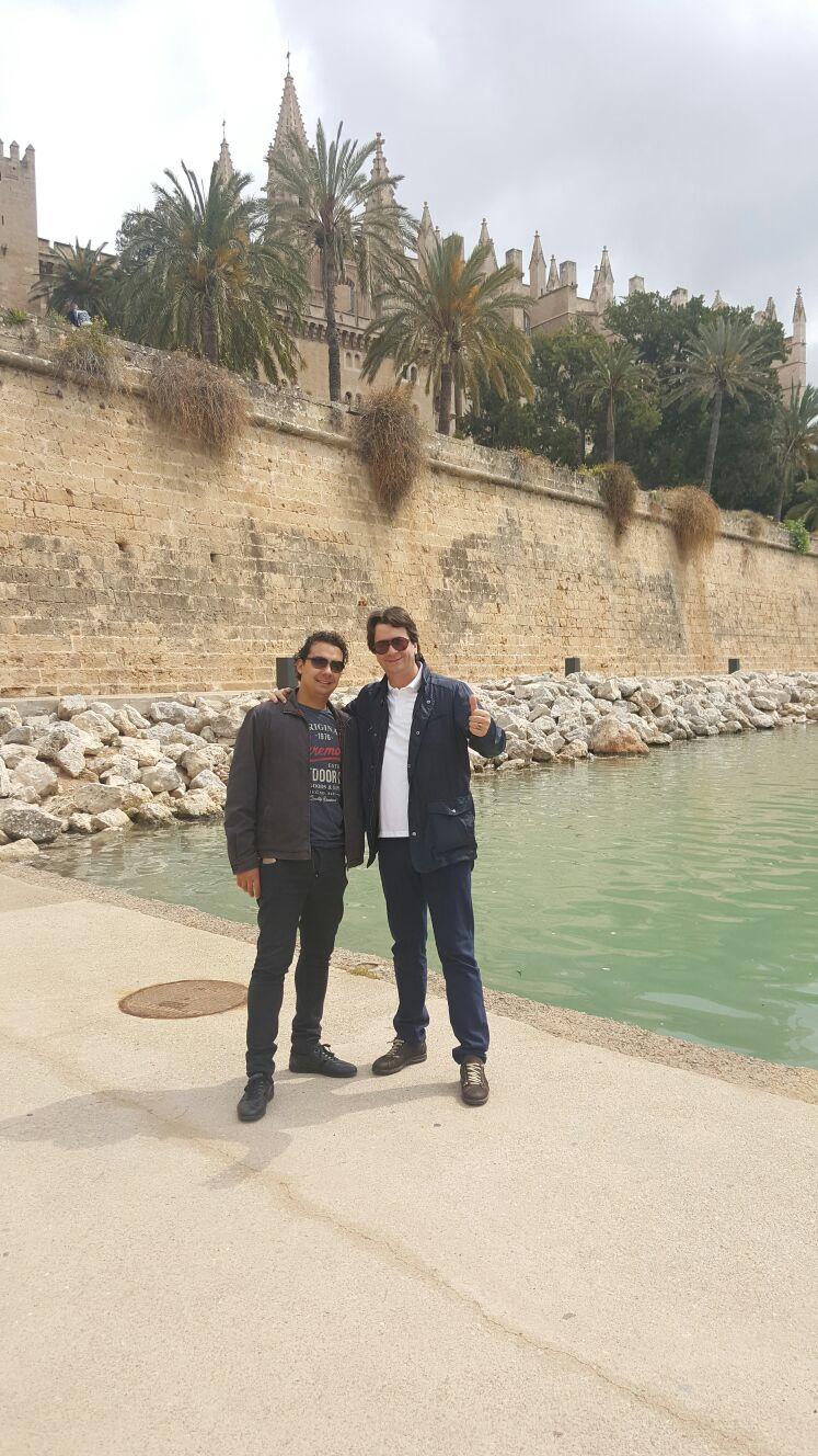Jose Miguel y Pepe en Parc del Mar en Palmca de Mallorca.