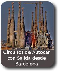 circuito de Viajes en Autocar con salidas desde BARCELONA