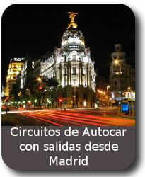 circuito de Viajes en Autocar con salidas desde MADRID