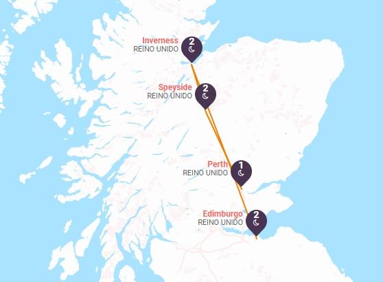 Tierras Altas de Escocia y la Ruta del Whisky