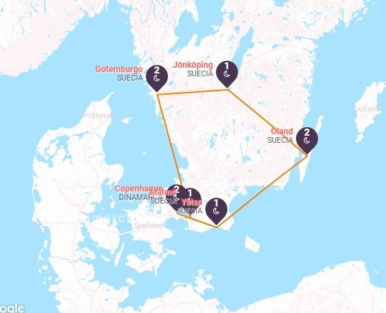 Copenhague y el Sur de Suecia