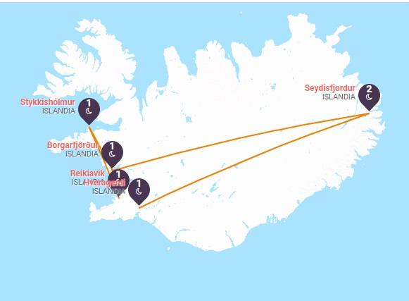 Islandia  Géiseres, Glaciares y Cascadas