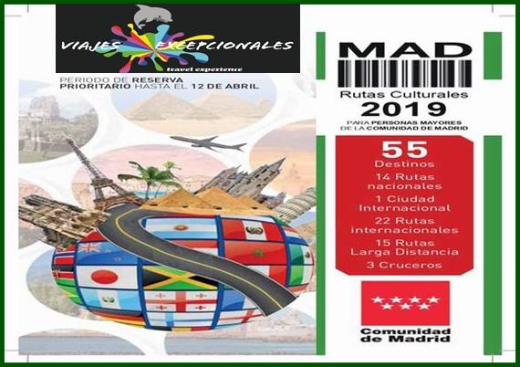 Viajes excepcionales Rutas Culturales CAM 2019
