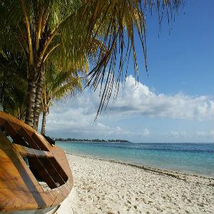 Praia nas ilhas Mauricias