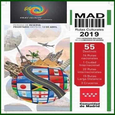 Viajes Cel�acos Rutas Culturales CAM 2019