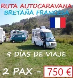 Ruta autocaravana Breta�a francesa + Vino de Burdeos