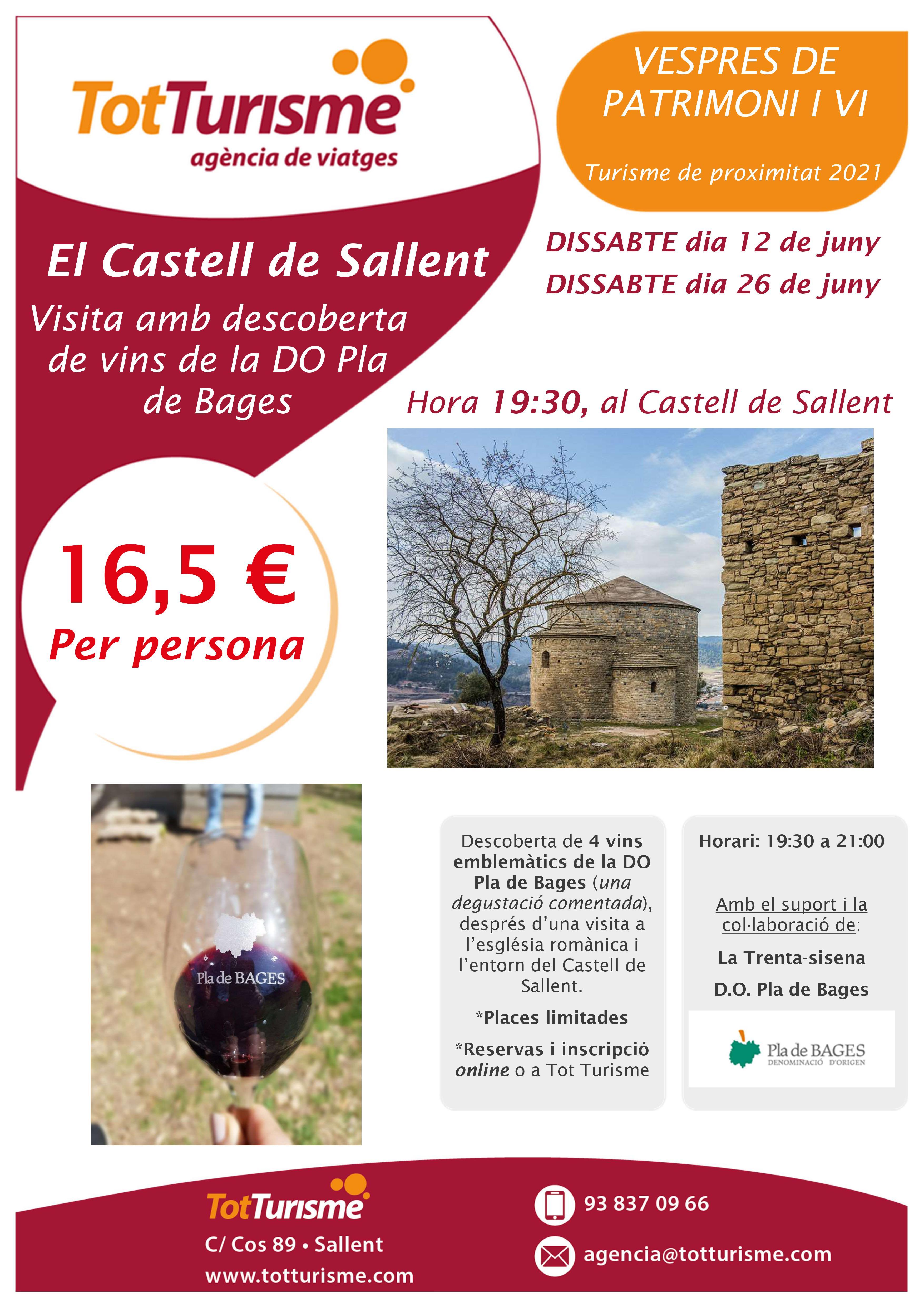 Descoberta de vins al Castell de Sallent