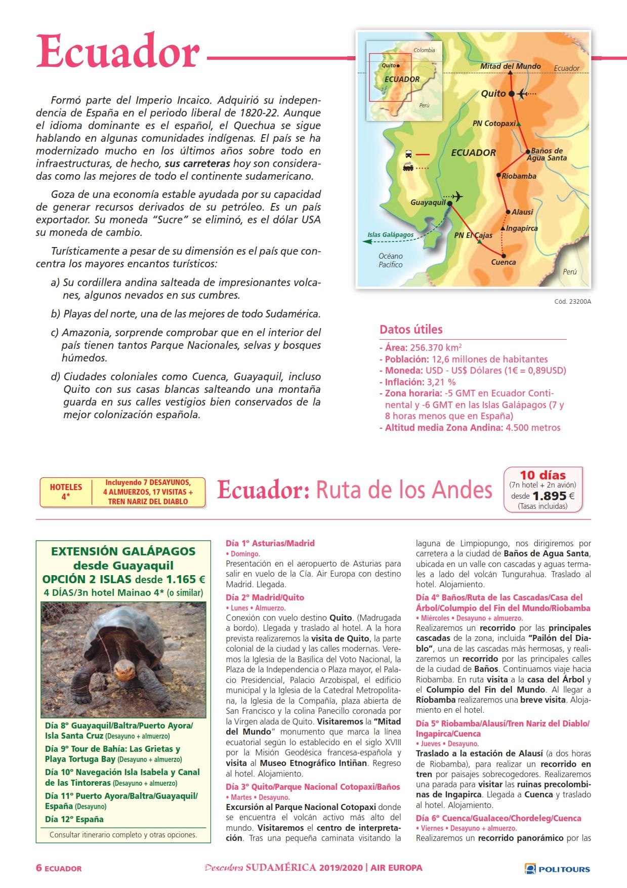 Ecuador: Ruta de los Andes